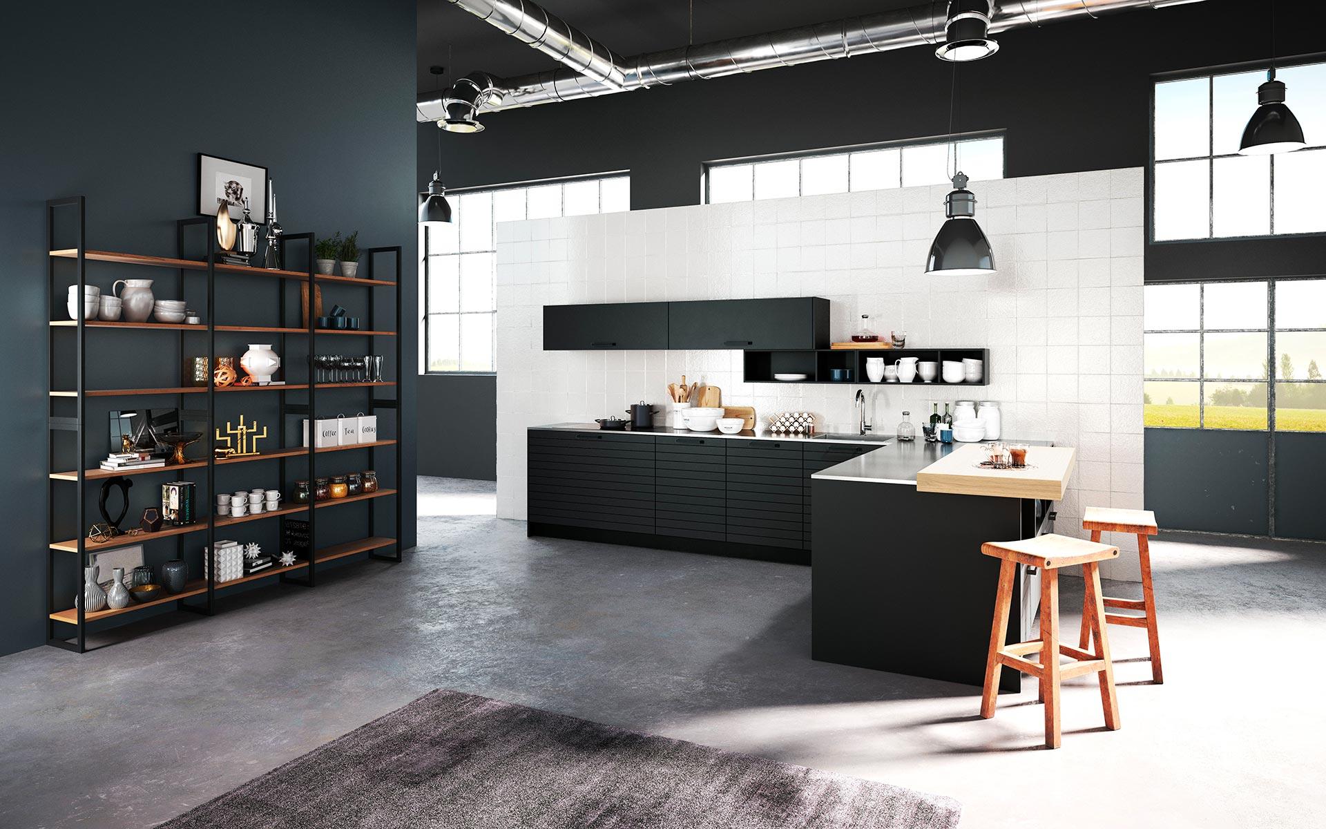 dunkle k chen rotpunkt k chen rotpunkt k chen. Black Bedroom Furniture Sets. Home Design Ideas
